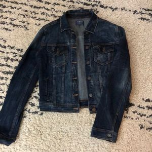 Dark jean jacket with stretch!